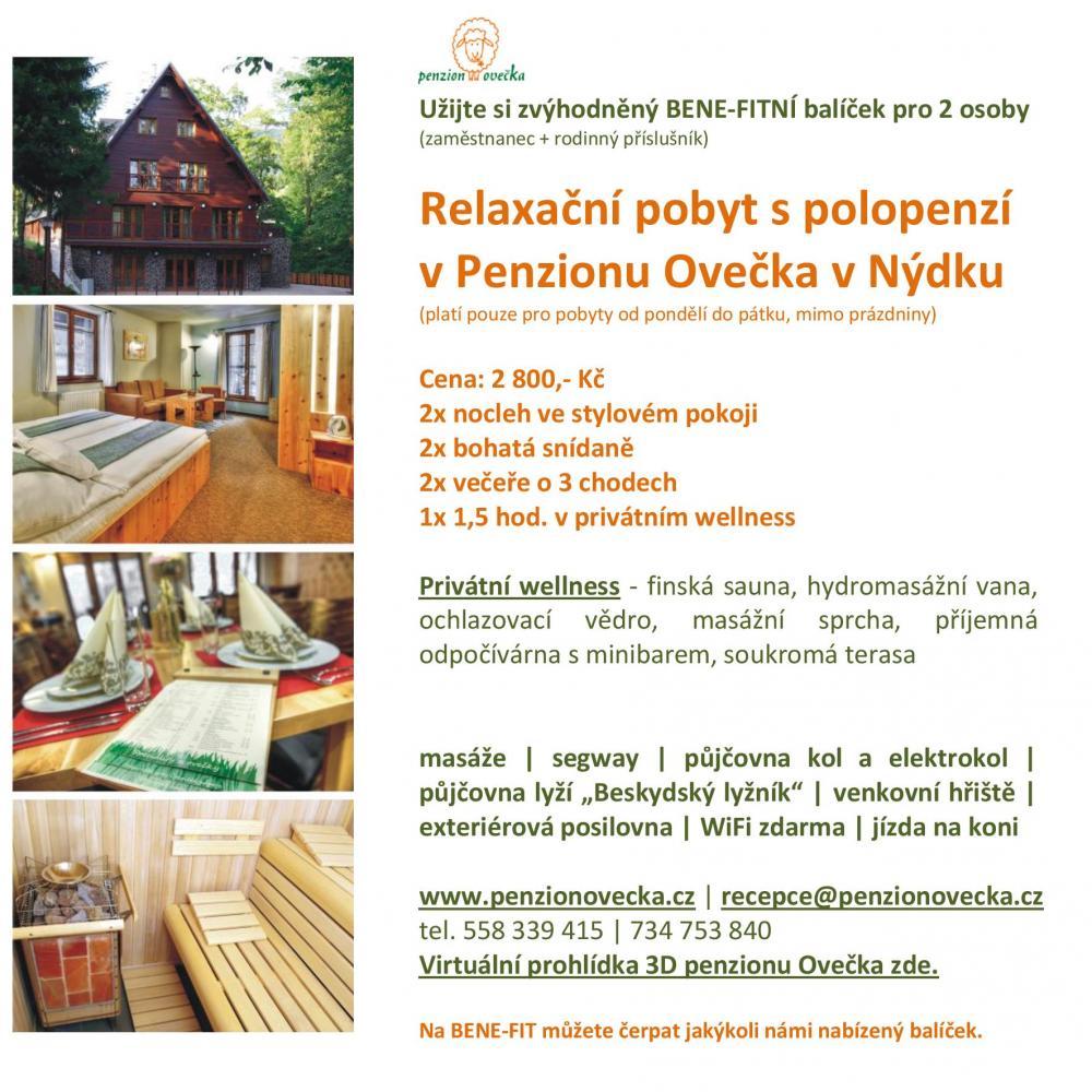 Benefitní balíček v týdnu v Penzionu Ovečka