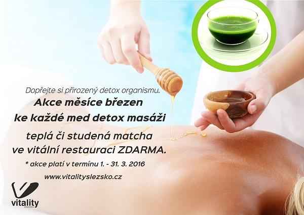 medová masáž + matcha tea