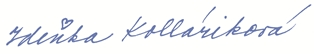 Podpis Zdeňka Kolláriková